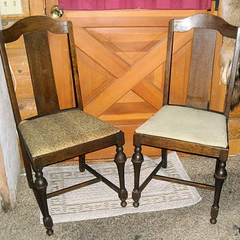 vintage straight back dining chairs - Antique Dining Room Chairs