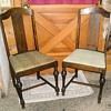 Vintage Straight Back Dining Chairs