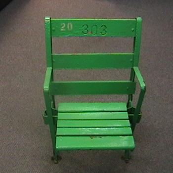 Original Comiskey Park Seat - Baseball