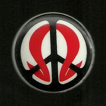 Vietnam War Draft Resistance in Peace pinback button