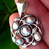 Liberty? Silver and Blister Pearl Pendant