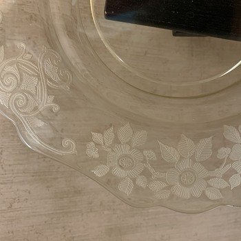 Cambridge Glass plates - Glassware