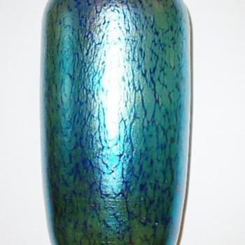 Loetz Cobalt Papillon Vase c.1900. PN II-40 - Art Glass