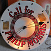 CALL FOR PHILLIP MORRIS CLOCK WITH SPINNER