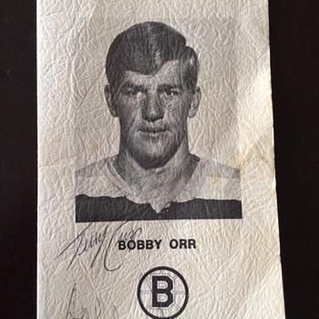 Bobby Orr Testimonial dinner program July 1970 signed program