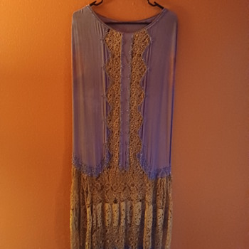 Purple beaded 1920s flapper dress - Art Deco