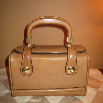 Rolego Italian Leather Trunk Case Box Purse  - Bags
