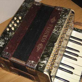 Vintage German made accordian.
