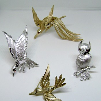 Trifari Brooch Set - Birds of Fashion Collection - Animals
