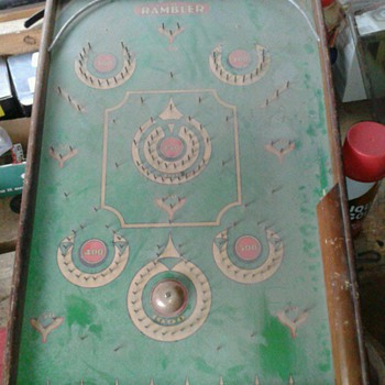 Antique Pinball Marble Game