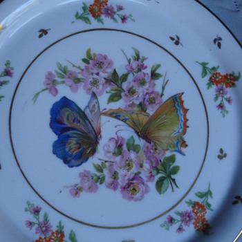 Butterflies on a Limoges tray - China and Dinnerware