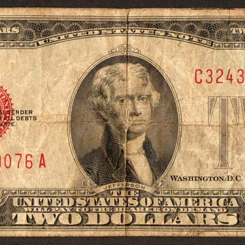 1928 D - Two Dollar United States Note - US Paper Money