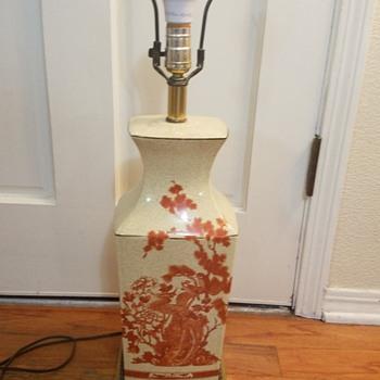 metal painted brass base Cloisonné Lamp? - Lamps