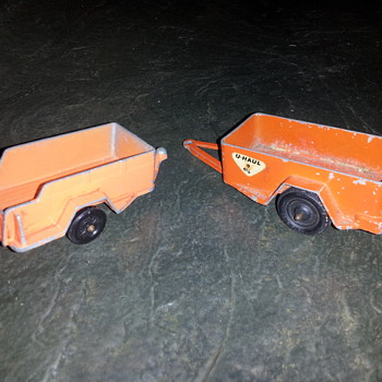 Tootsietoy U-Haul Trailers and 1959 Oldsmobile