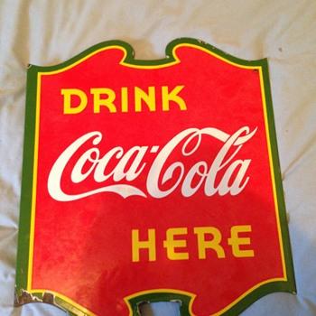rare Coca-cola 1939 sign - Coca-Cola