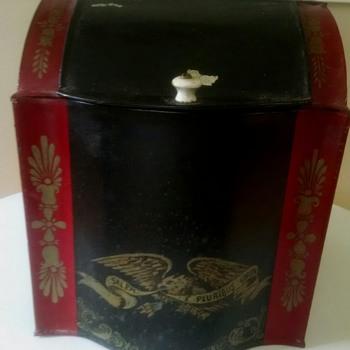 Antique Toleware Tea Caddy - Kitchen