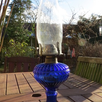 Czech Glass Oil Lamp? - Glassware
