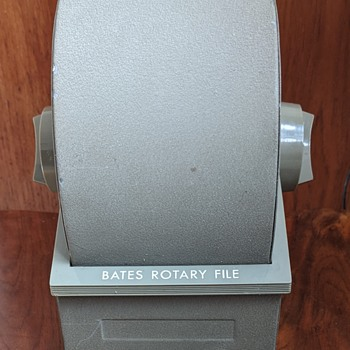 Bates Rotary File. - Office