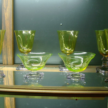 Pukeberg Vaseline Glass - Art Glass