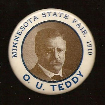 Teddy Roosevelt Visits the Minnesota State Fair - Medals Pins and Badges