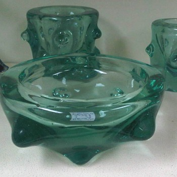 Tris in light green glass Barovier ? Tuscania ? - Art Glass