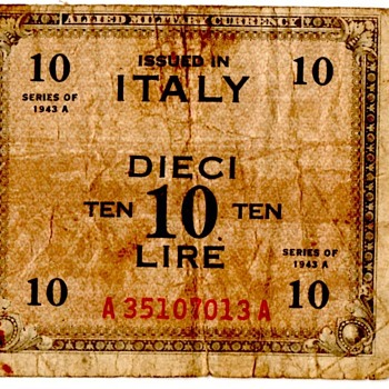 WWI Allied Occupation Currency for Italy