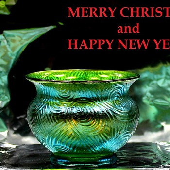 Merry Christmas and Happy New Year - Art Glass