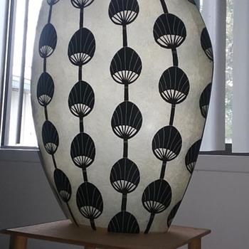 "Fiberglass Vase Authentic MCM, 21"" high - Mid-Century Modern"