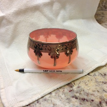 peachy pink with silver - Glassware