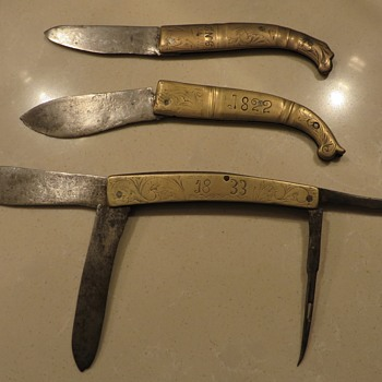 Early Folding Knifes - Tools and Hardware