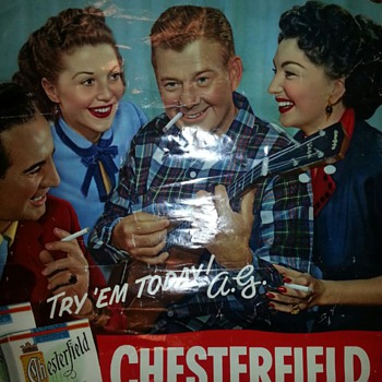 Chesterfield Advertising poster with Arthur Godfrey - Advertising