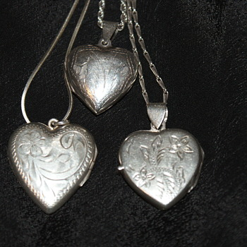 Sterling Heart Lockets – A bit too late for Valentine's Day	 - Fine Jewelry