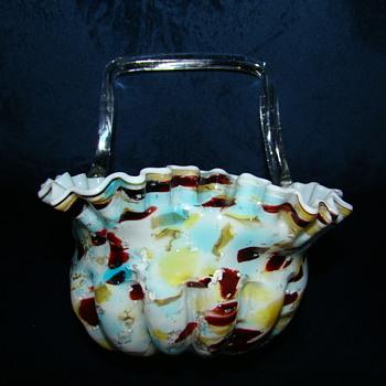 Welz basket - Art Glass