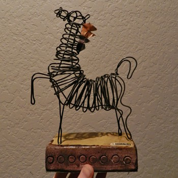 Mid/Mod Italian Wire Sculpture for ROSENTHAL-NETTER - Mid-Century Modern