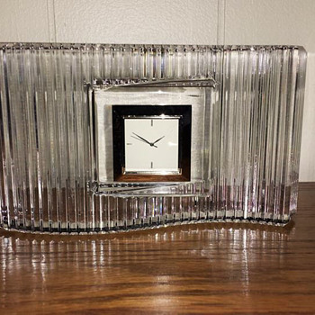 Desk Clock - Glassware