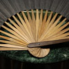 Plain Black Paper and Nice Bamboo Fan