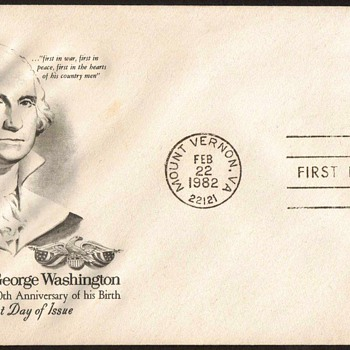 1982 - George Washington Stamp First Day Cover - Stamps