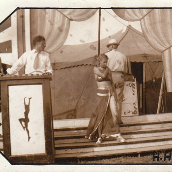 Sideshow Carnival Dancer WAY too Young c. 1930 - Photographs