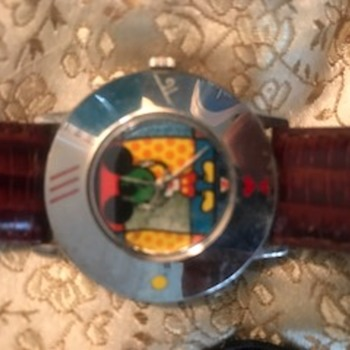 Mickey Mouse Watch made by Romero Britto By Acme that never went into production - Advertising