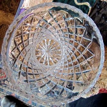 "14"" Crystal Vase. - Glassware"