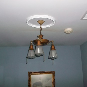 Vintage Pan Style Chandelier