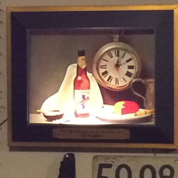 1950's Ruppert Knickerbocker Beer Shadowbox - Clocks
