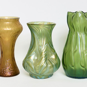 Loetz Trio c.1898-1903 - Art Glass