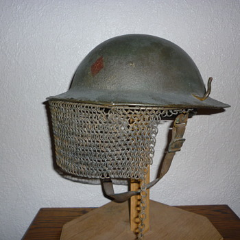 Scarce American WWI AEF steel helmet with visor