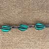 vintage glass and sterling silver bracelet