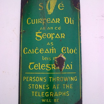 Telegraph pole signs. - Signs