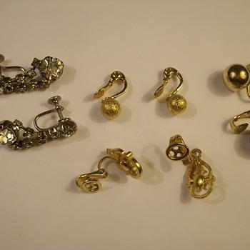 "More Vintage Costume Jewelry ""Earrings, Pin & Bracelet - Costume Jewelry"