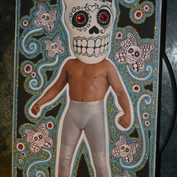 Lucha Libre Halloween Portrait? - Folk Art