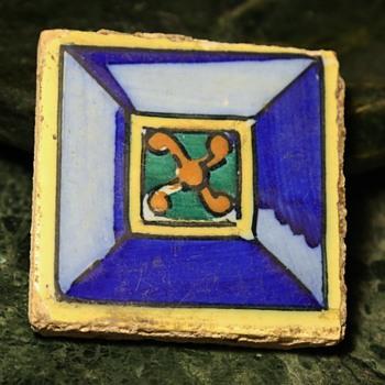 Three Spanish [?] Tiles - Pottery