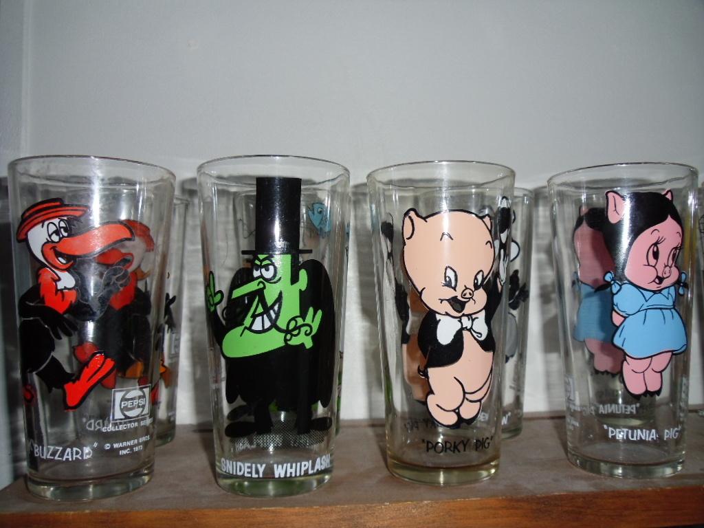 1973 Pepsi Collector Glasses Looney Tunes Warner Brothers U PICK
